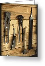 Cowboy's Tools Greeting Card