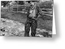 Cowgirl, C1906 Greeting Card
