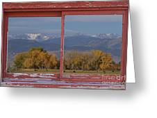 Cows Life Colorado Autumn Rocky Mountains Picture Window Art Greeting Card
