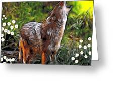 Coyote Howl Greeting Card