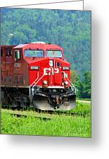 Cp Coal Train Greeting Card