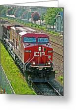 Cp Rail Engine Greeting Card