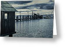 Crab Boat At Pier Greeting Card