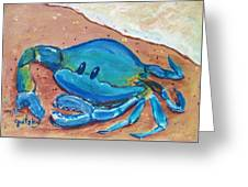 Crab On The Beach Greeting Card