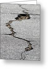 Crack In The Street Greeting Card