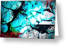 Cracked Blue Mud Greeting Card
