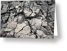 Cracked Rocks On Shore Greeting Card