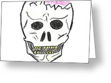 Cracked Skull Greeting Card by Jeannie Atwater Jordan Allen