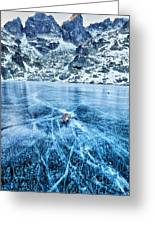 Cracks In The Ice Greeting Card