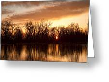 Crane Hollow Sunrise Before The Storm Greeting Card