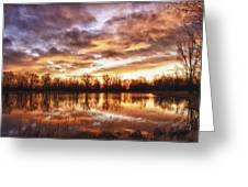 Crane Hollow Sunrise Boulder County Colorado Hdr Greeting Card