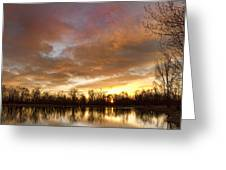 Crane Hollow Sunrise Greeting Card