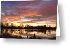 Crane Hollow Sunrise Reflections Greeting Card