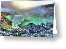 Crater Ijen Greeting Card