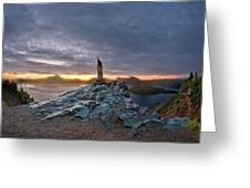 Crater Lake Autumn Dawn Greeting Card