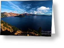 Crater Lake Minus Trees Greeting Card