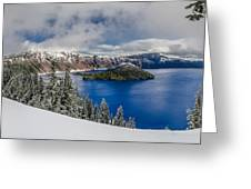 Crater Lake Panorama 1 Greeting Card