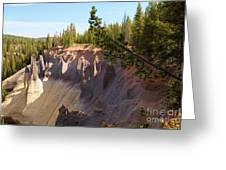 Crater Lake Pinnacles Greeting Card