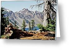 Crater Lake Through Nature Greeting Card