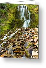 Crater Lake Waterfall Greeting Card