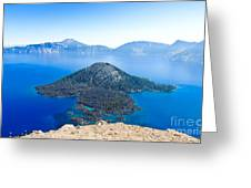 Crater Lake Wizard Island Greeting Card