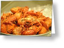 Crawdad Delight Greeting Card