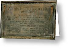 Crawford Scott Historical Marker Greeting Card