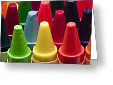 Crayon Tips 3 Greeting Card