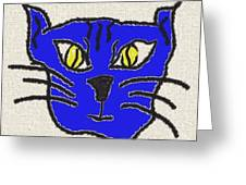 Crazy Cat Greeting Card by Leeann Stumpf