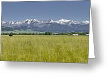 Crazy Mountain Range Greeting Card