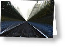 Crazy Tracks Greeting Card