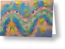Crazy Waves Greeting Card
