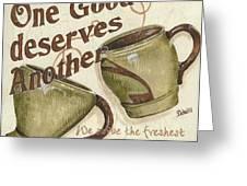 Cream Coffee 2 Greeting Card