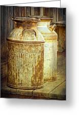 Creamery Cans In 1880 Town No 3098 Greeting Card