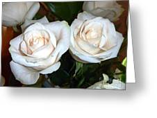 Creamy Roses I Greeting Card