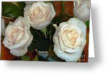 Creamy Roses II Greeting Card