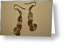 Create In Silver Earrings Greeting Card by Jenna Green