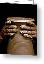 Creation At The Potter's Wheel Greeting Card