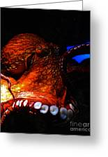 Creatures Of The Deep - The Octopus - V6 - Orange Greeting Card
