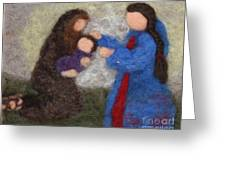 Creche Scene Greeting Card