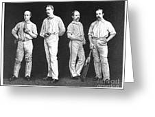 Cricket Players, 1889 Greeting Card