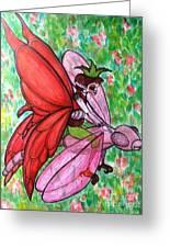 Crimson Wings Greeting Card