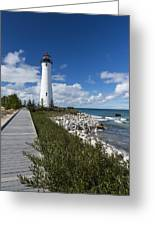Crisp Point Lighthouse 10 Greeting Card