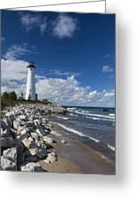 Crisp Point Lighthouse 11 Greeting Card