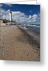 Crisp Point Lighthouse 14 Greeting Card