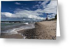 Crisp Point Lighthouse 3 Greeting Card