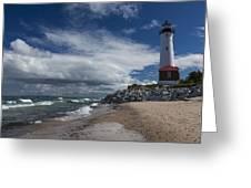 Crisp Point Lighthouse 5 Greeting Card
