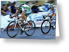 Criterium Bicycle Race 3 Greeting Card