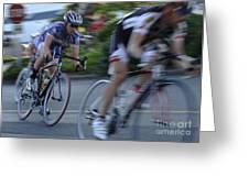 Criterium Bicycle Race 4 Greeting Card