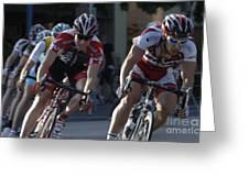 Criterium Bicycle Race 7 Greeting Card